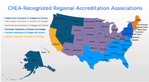 regional accrediting bodies map